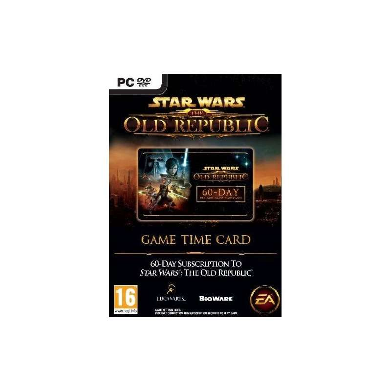 Star Wars: The Old Republic (SWTOR) 60-day Time Card