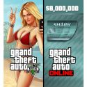 Grand Theft Auto V GTA + Megalodon Shark Cash Card - PC - Rockstar Sociaů